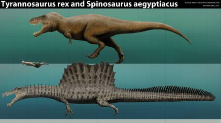 Spinosaurus and Tyrannosaurus Size