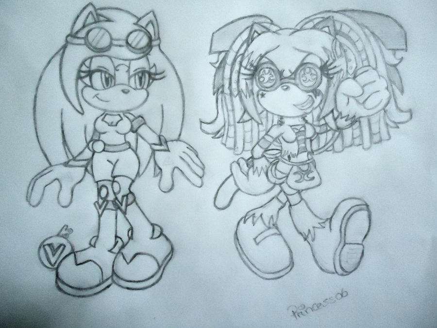 -COLLAB SKETCH- Vendetta and Cyber Sav by princess06