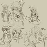 Sketches for friends :3