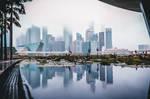Clouds above the Singapore skyline by JenniferSophieKwan