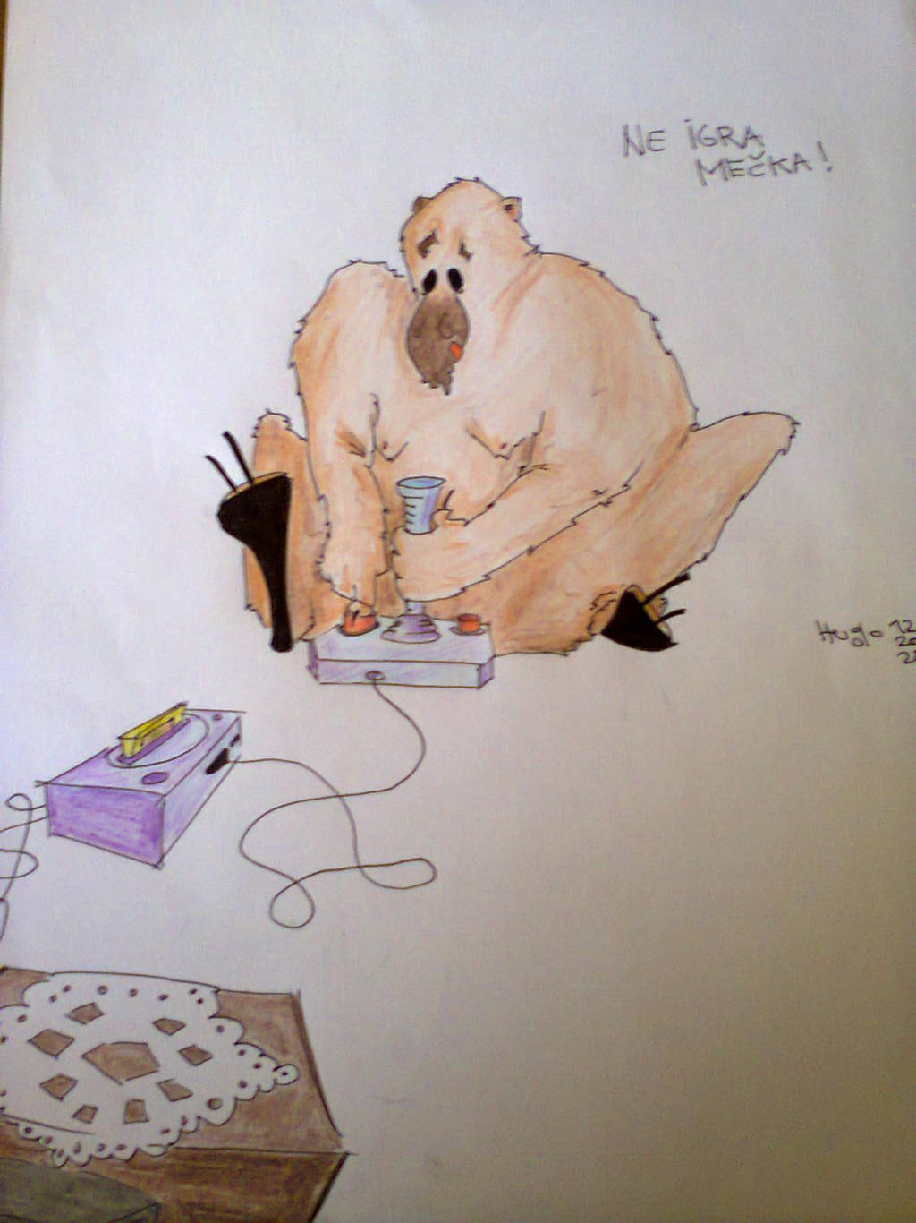Moja umetnos' Ne_igra_mecka___the_girl_bear_doesn_t_play_by_micromegas1986-d6tkns8