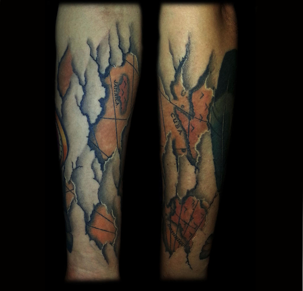 Map under the skin by dzsedi on deviantart for Under the skin tattoo
