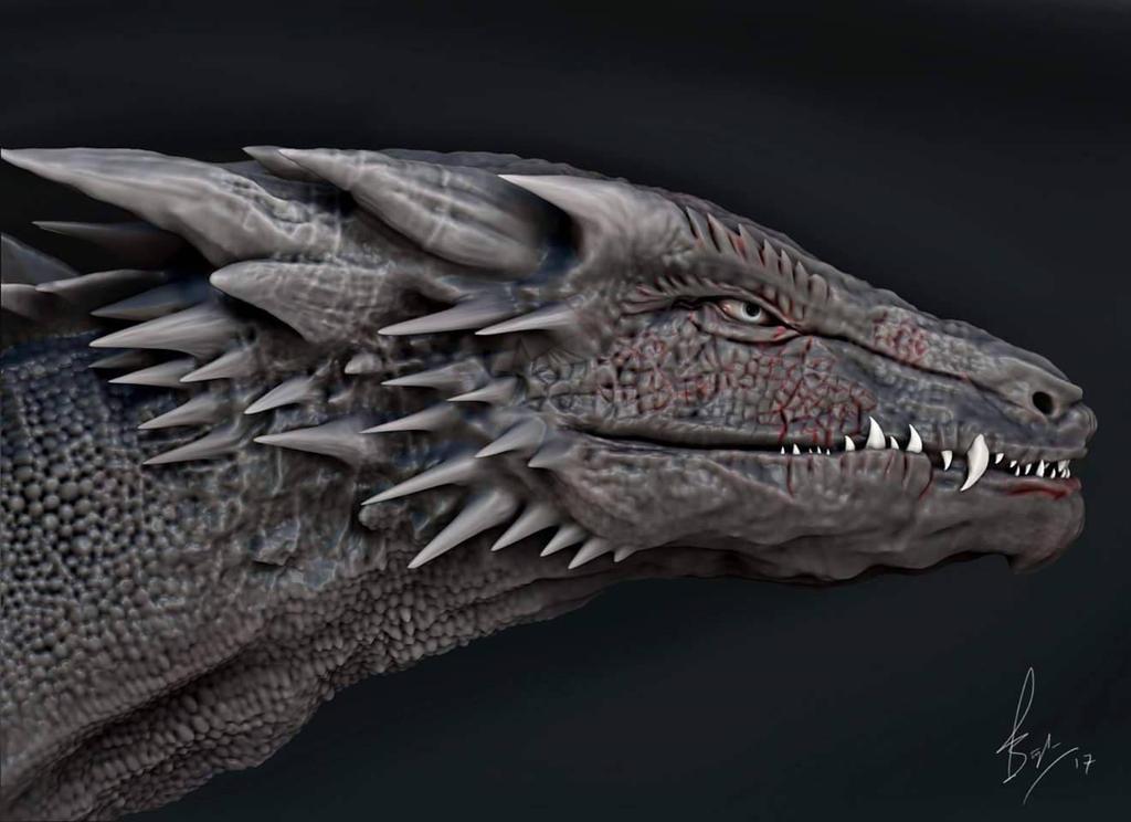 Drogon sculpt  by paramveersingh1