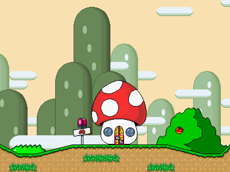 Super Mario Bros Ghost House Background – HD Wallpapers