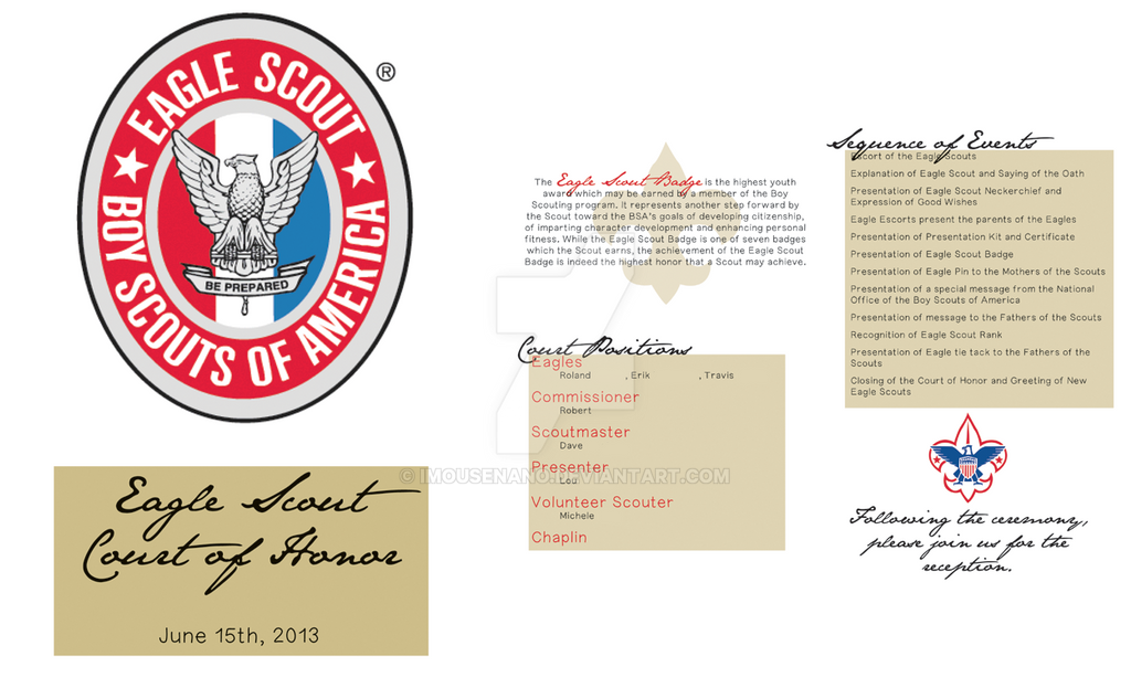 Eagle Scout Court Of Honor Program By IMouseNano On DeviantArt