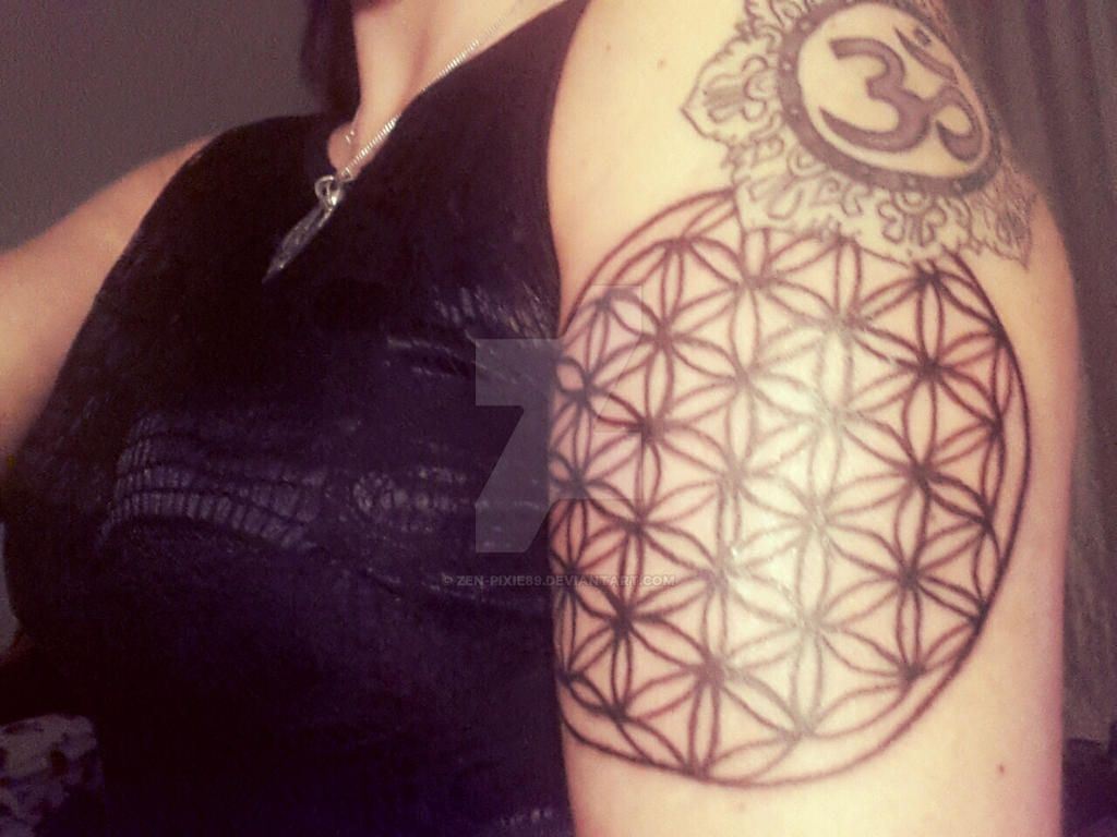 flower of life tattoo by zen pixie89 on DeviantArt