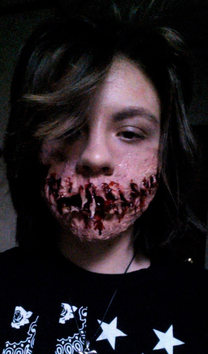 SFX Practice | Gory Smile by They-Call-Me-Oddy