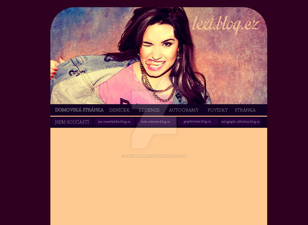 Demi Lovato Layout by Lexigraphic