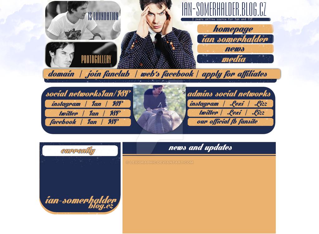 Ian Somerhalder Layout by Lexigraphic