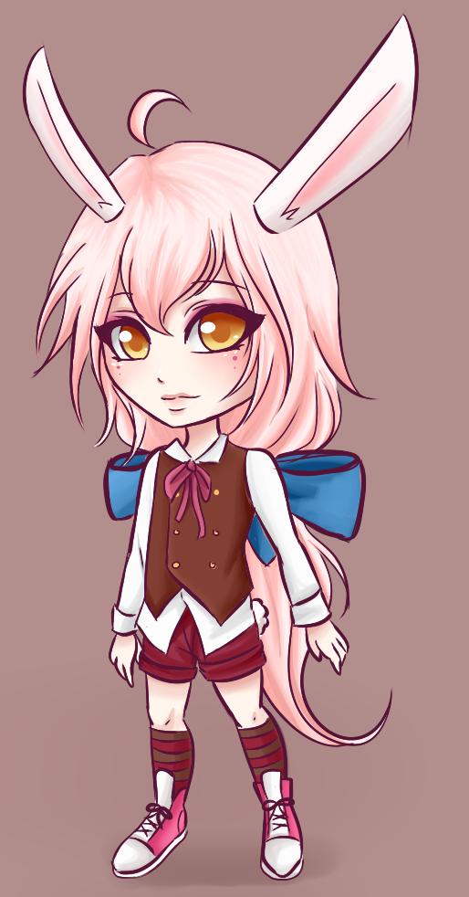 Pink Rabbit by GhostXII