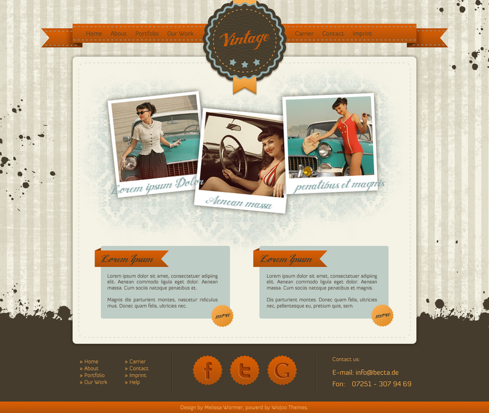 Retro Html Templates Vintage/Retro Template by miss-webdesign on deviantART