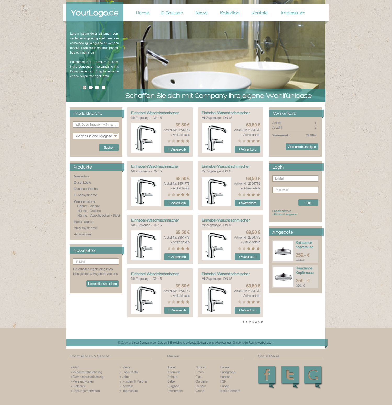 Template For Bathroom Shop By Miss Webdesign On Deviantart