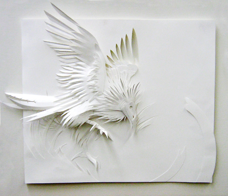 Low relief bird by weremagnus on deviantart