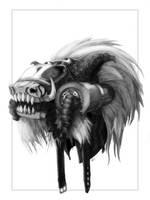 Hyena Mask by weremagnus