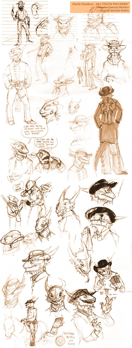 Charlie Chambers - Sketches by weremagnus