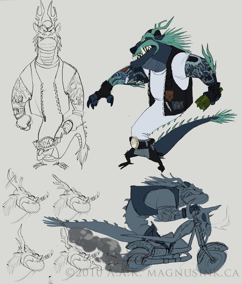 Berny Yun - Badass Stormdragon by weremagnus