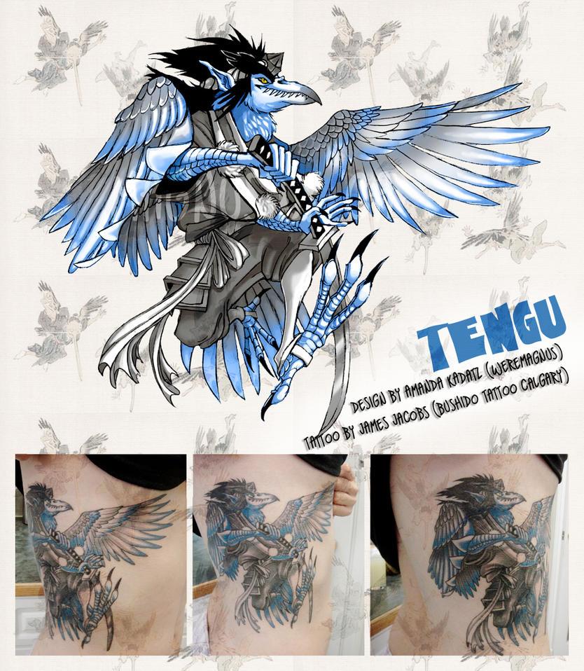Gasatsu Tengu Tattoo UPDATE by weremagnus