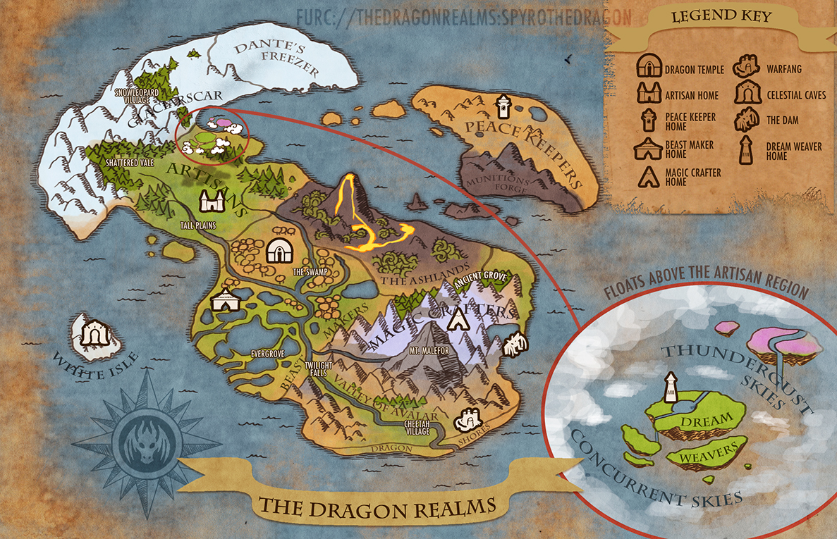 The dragon realms map by weremagnus on deviantart the dragon realms map by weremagnus gumiabroncs Choice Image