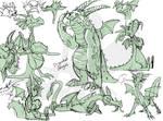 Worksketch: Disgruntled dragons