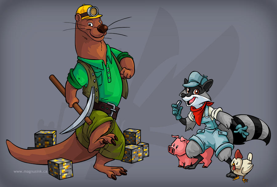 VF Mascots by weremagnus