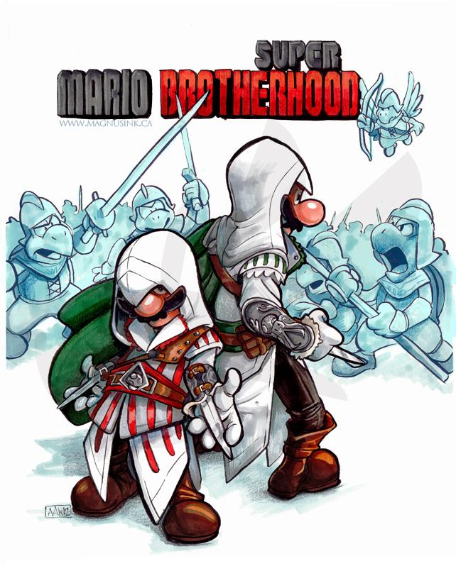 Super Mario Brotherhood by weremagnus