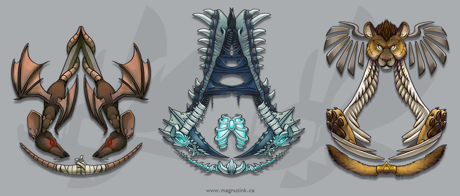 Custom Assassin Emblems Batch 1 by weremagnus