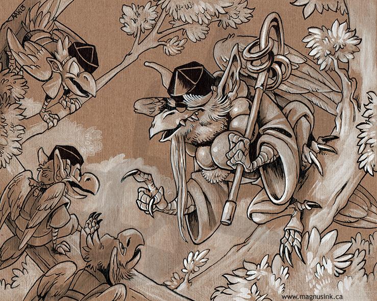Daitengu Tells a Tale by weremagnus