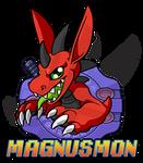 Magnusmon DIGIFIED Badge by weremagnus