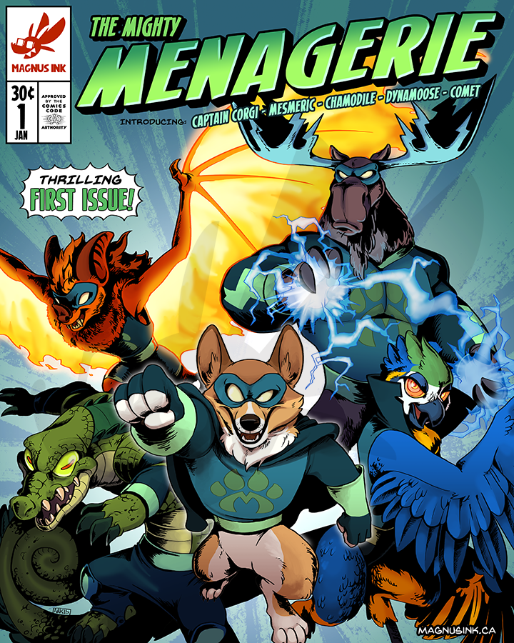 The Mighty Menagerie Issue 1 by weremagnus