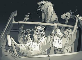 Midnight Burger Run by weremagnus