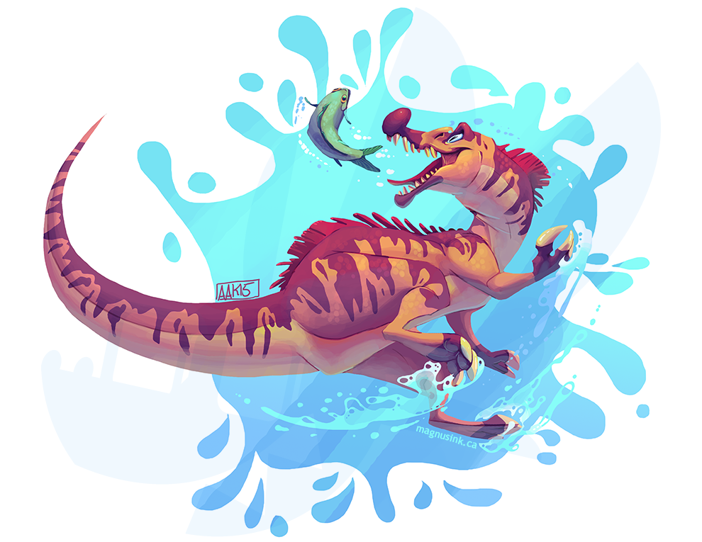 Baryonyx for The Stomping Grounds by weremagnus