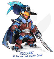 #SkylandersArtContest: Crowvalier by weremagnus
