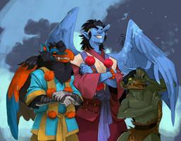 Yokai Squad by weremagnus