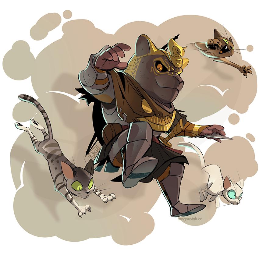 I am the Avatar if Sekhmet! by weremagnus