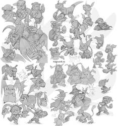Digimon Sketch Compilation