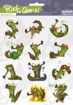 Riel the Gharial - digital sticker set by weremagnus
