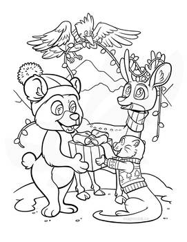 Children's holiday colouring sheet 1