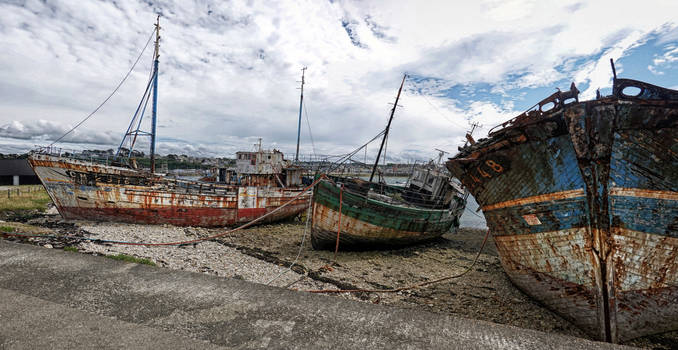 The wrecks of Camaret