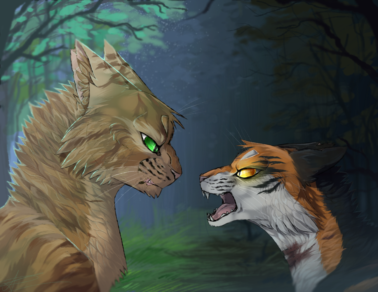 crookedstar and mapleshade by ssilverbeeze on deviantart
