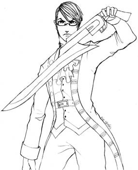 Alexander with Gunblade -Sketch-