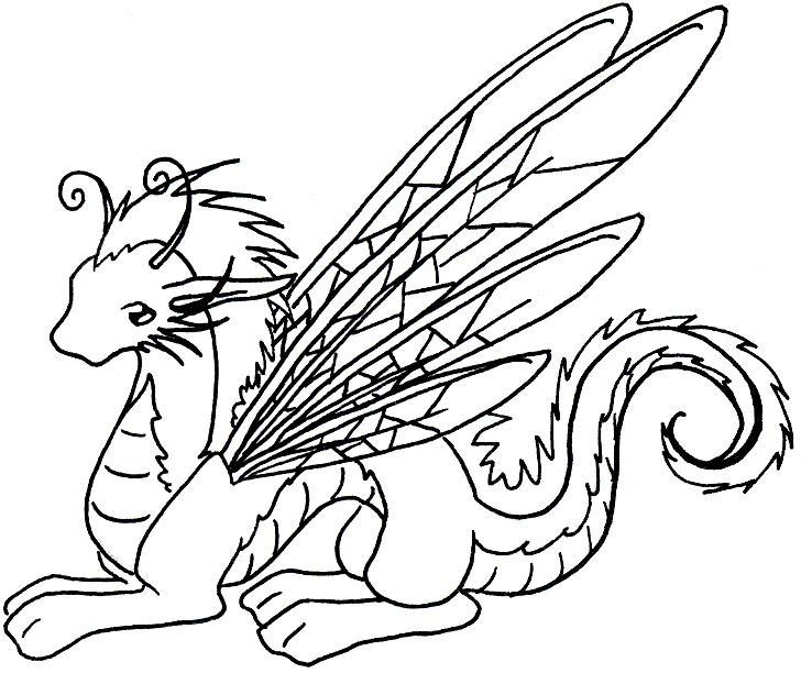 female dragon outline by pyrobat - Dragon Outline