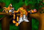 Sleeping Tribal Tails by Lord-Kiyo