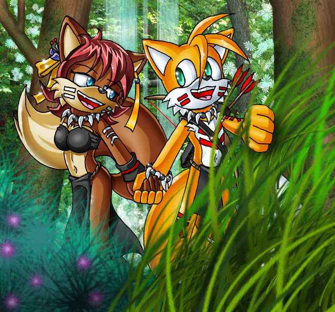 Tails And Fiona's Walk By Lord-Kiyo On DeviantArt