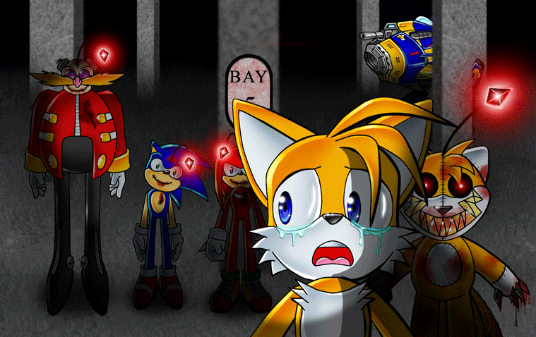 How To Draw Sonic Vs Sonic Exe