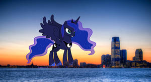 Princess Luna comes to city