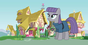 Giant Maud Pie and Pinkie Pie in Ponyville