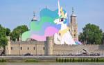 Princess Celestia sitting in Tower of London