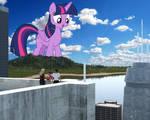 Twilight visits a tropical city