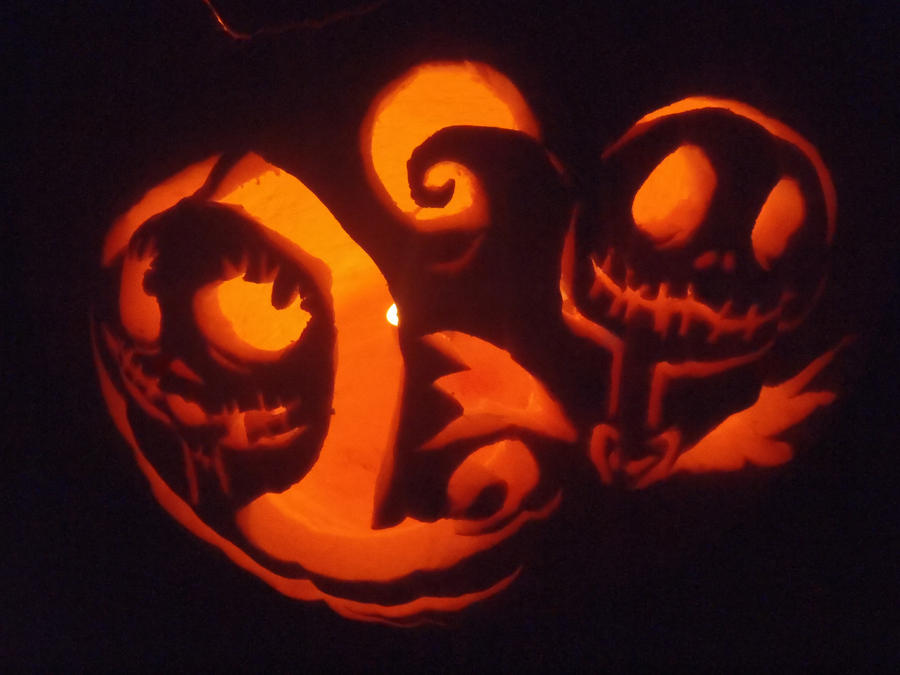 jack and sally pumpkin carving template - photo #5