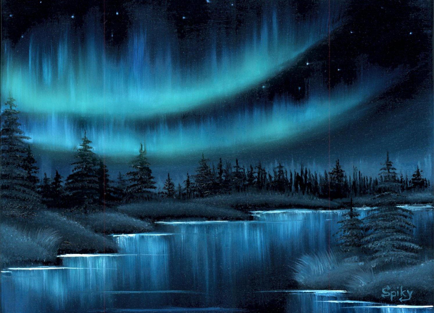 The Northern Lights by Spikylein